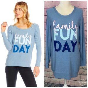 Chaser family fun day graphic sweatshirt medium